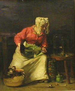 FRANK BENTLEY ASHLEY LINTON (Amercan 1871-1943)  PICKLING GHERKINS