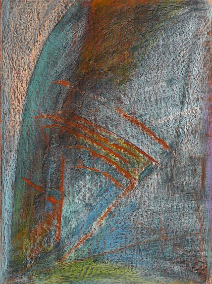 TWO OIL PASTELS HERB JACKSON, (AMERICAN B. 1945), UNTITLED DRAWING P325 and UNTITLED DRAWING P309