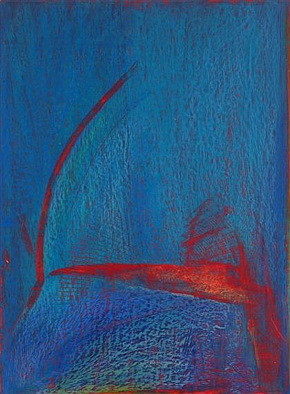 TWO OIL PASTELS HERB JACKSON, (AMERICAN B. 1945), UNTITLED DRAWING P335