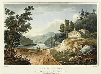 1 piece. Hand-Colored Aquatint Etching. Hill, John after Wall, William Guy.