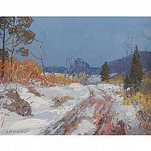 "ALFRED NUNAMAKER, (AMERICAN 1915-1988), ""THE ROAD HOME"""