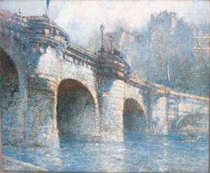 GEORGE WHARTON EDWARDS (American 1869-1950) 'PONT NEUF, PARIS' signed 'George Wharton Edwards' bottom right, oil on canvas laid down on panel 20 x 24 in. (50.8 x 61 cm). Provenance: Grand Central Art Galleries, New York, New York.
