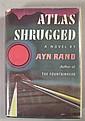 1 vol. Rand, Ayn.Atlas Shrugged. New York: Random House, 1957. 1st ed., 1st issue. Thick 8vo, orig. gilt-lettered green c...