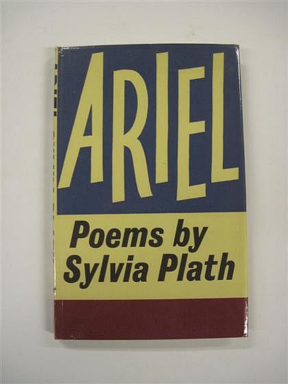 * 1 vol. Plath, Sylvia. Ariel. London: Faber & Faber, (1965). 1st ed. 8vo, orig. deep rose cloth, gilt lettered spine; l...