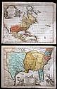2 pieces. Hand-Colored Engraved Maps. Van der Aa, Pieter: La Floride. Leyden, [ca 1710-1730]. 9 x 12 in, 228 x 305 mm, narro...