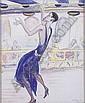 HILLA REBAY (American 1890-1967) NEGRO DANCER IN BLUE DRESS, Hilla Rebay, Click for value