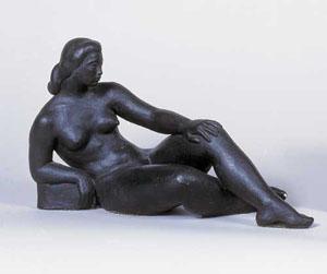 HARRY ROSIN (American 1897-1973) RECLINING FEMALE NUDE