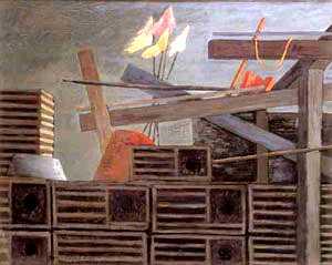 MORRIS BLACKBURN (American 1902-1979) 'POTS AND FLAGS'