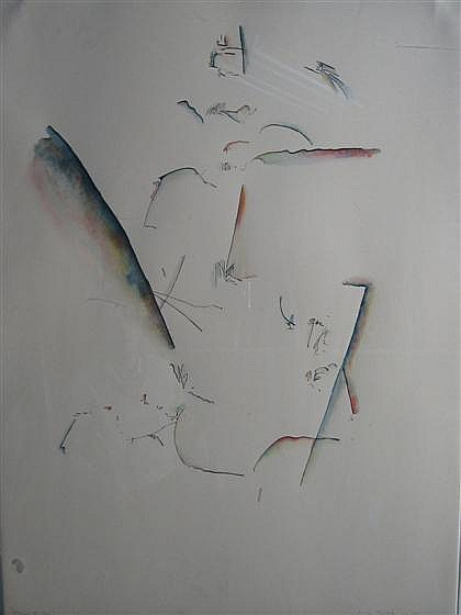 John Dowell-Together and Alone-1980 Lithograph-SIGNED