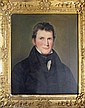 American School 19th century, portrait of a young gentleman, Oil on canvas, framed.
