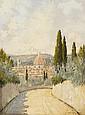 GIACOMO DELCROIX, (ITALIAN 1894-1972), IL DUOMO FROM A HILL