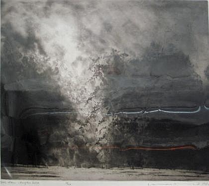"NORMAN ACKROYD, (BRITISH B. 1938), ""TREES & RAIN - KINGSTON LISLE"""