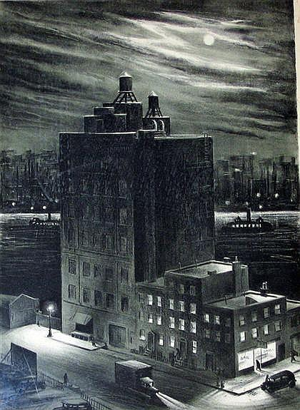 RUSSELL T. LIMBACH, (AMERICAN 1904-1975), WINTER NIGHT