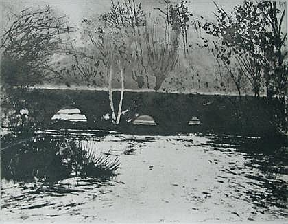 "NORMAN ACKROYD, (BRITISH B. 1938) THREE PRINTS, ""WIDFORD BRIDGE"""