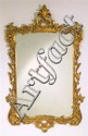 George III style carved giltwood mirror, 19th century, The shaped mirror plate within acanthus scrolls, scallop, and foliate swag frame