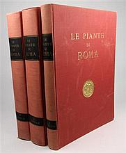 3 vols. Frutaz, Amato Pietro, ed. Le Piante di Roma. Rome, 1962.  Folio, orig rose-brown gilt-lettered cloth; slightl...