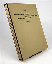 1 vol. Bill, Max. Moderne Schweizer Architektur. Basel: Karl Werner, [1949]. 4to, loose as issued, in orig ptd box, olive...