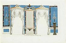 2 vols (wrappers). (Interior Decoration:)  Muster zu Zimmer-Versierunger und Ameublements. Leipzig: Voss, 1794. 2nd e...