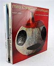 2 vols. (Miro, Joan.) (Maeght, pub:)  Pierre, Jose; Corredor-Matheos, Jose. Ceramiques de Miro et Artigas. [Paris,...