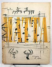 1 vol (wrappers). (Matta, Roberto, illus.) Breton, Andre, et al. Preliminaires sur Matta. [Paris, 1947].  1st ed. Sm...