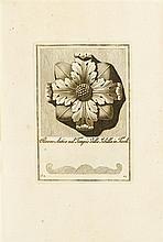4 vols. Antonini, Carlo. Manuale de vari ornamenti tratti delle fabbriche e trammenti antichi. Rome, 1781-1790.  Sm f...