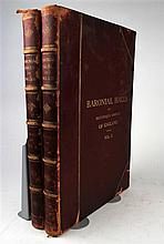 2 vols. Hall, S.C. The Baronial Halls and Ancient Picturesque Edifices of England. London: H. Sotheran, 1881.  Folio,...