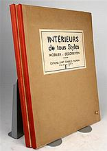 2 vols. Moreau, Charles, pub. Interieurs anciens de tous styles. Paris, n.d. [ca 1935-1938].  1st & 2nd series. Folio...