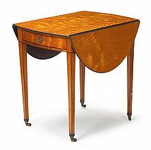 George III satinwood pembroke table, circa 1800,