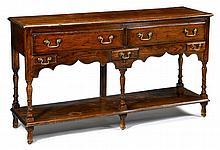 Welsh style oak low dresser, 20th century,