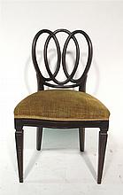 Hepplewhite style side chair, 20th century,
