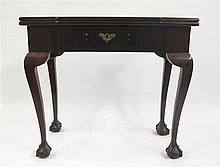 George III mahogany games table, late 18th century,