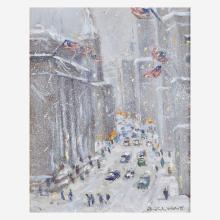 Christopher Willett (American, B. 1959) New York City Blizzard