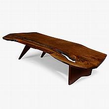 GEORGE NAKASHIMA (1905 1990), WALNUT SLAB COFFEE TABLE, 1966