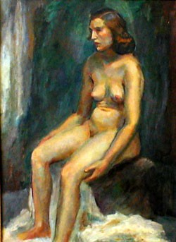 CHARLES W. WARD (American 1900-1962)  SEATED NUDE