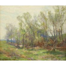 "HUGH BOLTON JONES, (AMERICAN 1848-1927), ""A SUMMER AFTERNOON"""