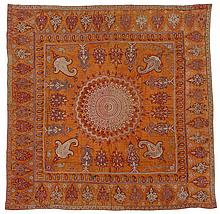Rescht embroidery, southeast persia, circa 19th century,