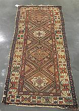 Three West Persian rugs, circa 1st quarter 20th century, Comprising a Lilihan rug, 3 ft. 11 in. x 2 ft. 5 in.; a Kurd Karabagh rug, 6 f