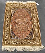 Silk Hereke rug, west anatolia, circa 2nd half 20th century,