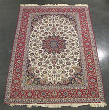 Isphahan carpet, central persia, circa 2nd half 20th century,