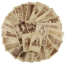 28 Pieces. Original photographs of the Battle of Wounded Knee & related subjects: Northwestern Photographic Co. [ca. 1890s].