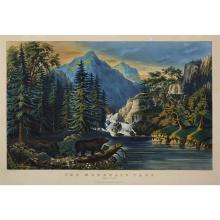 1 Piece. Hand-Colored Lithograph. Currier, Nathaniel; Ives, James M., publishers.