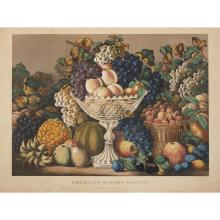 2 Pieces. Hand-Colored Lithographs. Currier, Nathaniel; Ives, James M., publishers: