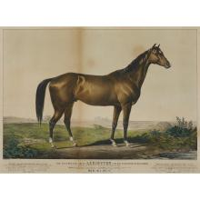 4 Pieces. Assorted 19th century horse racing prints by Currier and Ives.