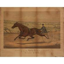 7 Pieces. Lithographs Printed in Color. Currier, Nathaniel; Ives, James M., publishers [Trotting Horses].