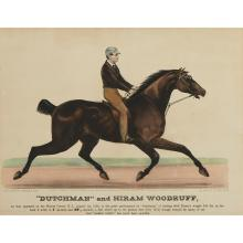 4 Pieces. Hand-Colored Lithographs. Currier, Nathaniel; Ives, James M. [Equestrian & Comic Equestrian - small folio formats].