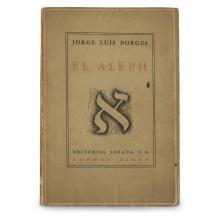 1 Vol. Borges, Jorge Luis. El Aleph. Buenos Aires: Losada, (1949). First edition. Signed and inscribed.