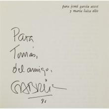 1 Vol. (wrappers). Garcia Marquez, Gabriel. Cien anos de soledad. [Barcelona: Edhasa], (1975). Signed and inscribed.