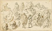 NORTHERN EUROPEAN SCHOOL, (18TH CENTURY), SHEET OF STUDIES