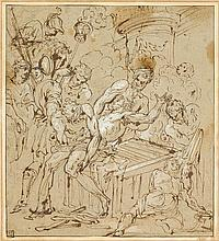 ATTRIBUTED TO JACOPO PALMA IL GIOVANE, (ITALIAN C.1548-1628), MARTYRDOM OF SAINT LAWRENCE