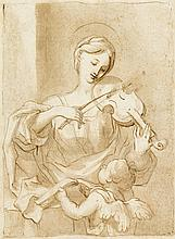 FRENCH SCHOOL, (LATE 17TH CENTURY), SAINT CECILIA WITH PUTTO